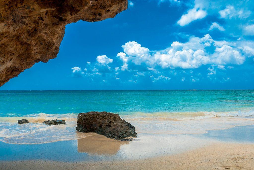 crete blue sea sky