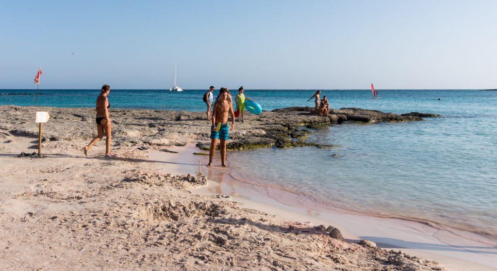 elafonisi beach pink sand