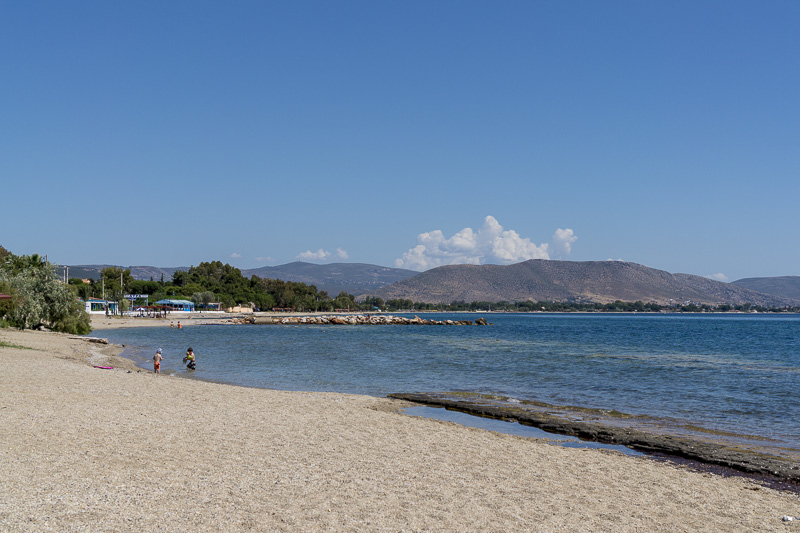 nea makri beaches near athens-sand