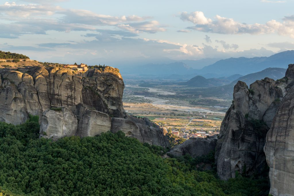Meteora by sunset