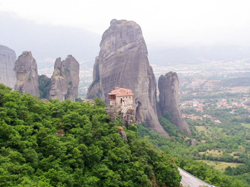 Roussanou Monastery in Meteora Greece