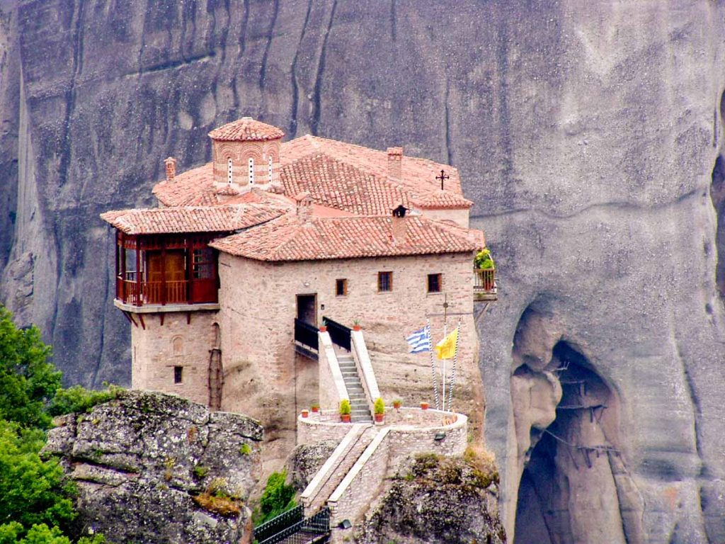 The Holy Monastery of Roussanou in Meteora Greece