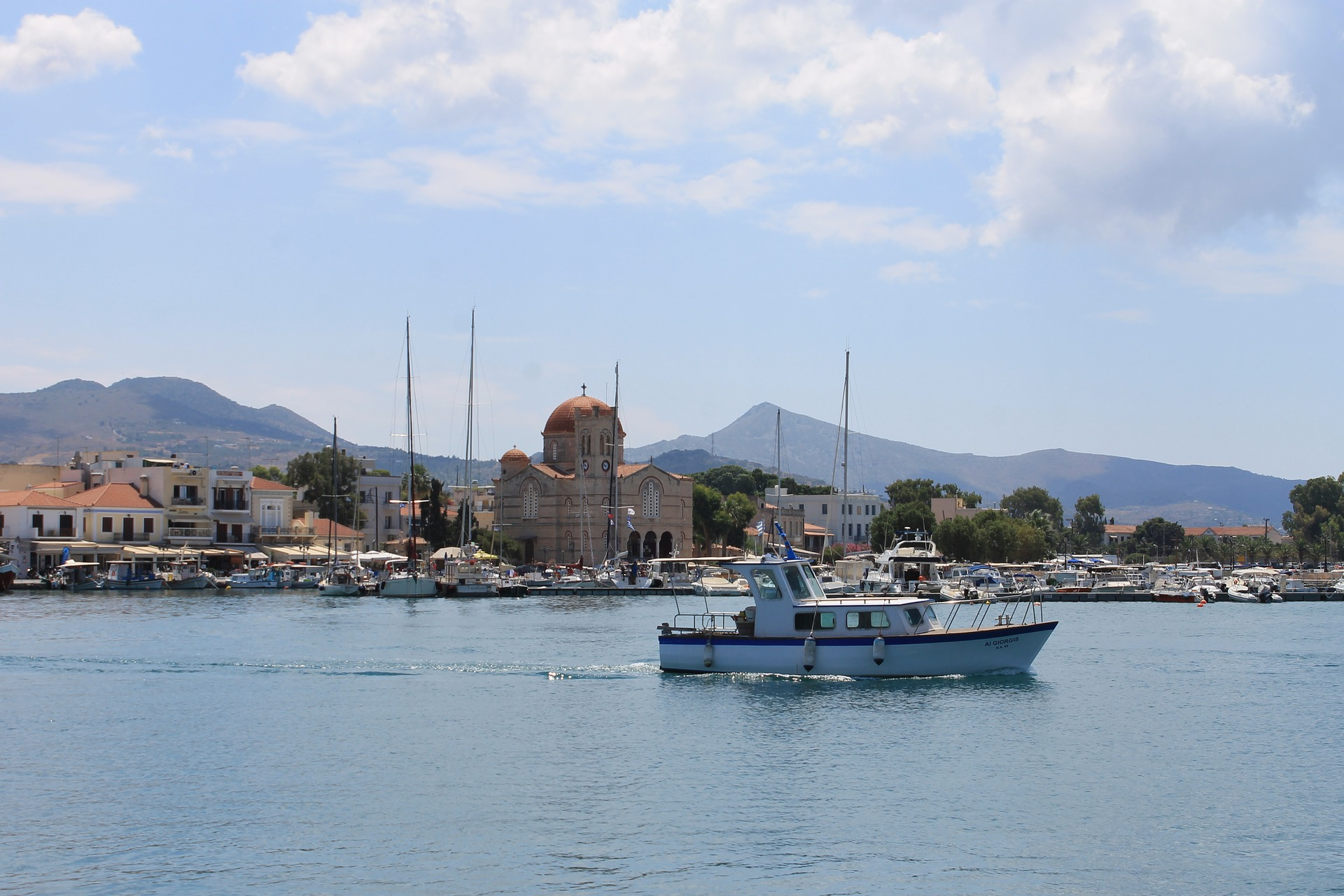 Aegina - Greek Island and boat