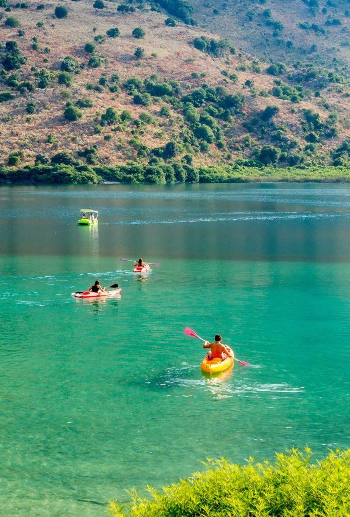 Kayaks on Kournas Lake