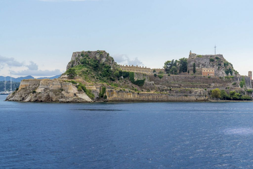 Corfu Island from the Ferry - The Citadel