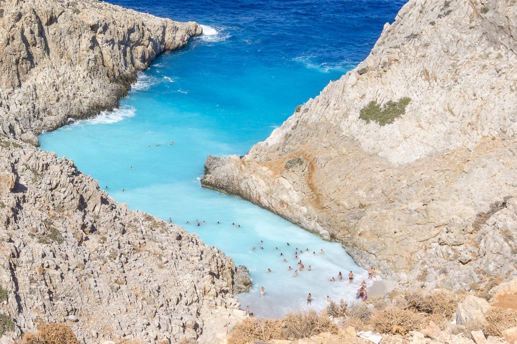 Stefanou Beach, also known vas Seitan Limania is in Chania, in Akrotiri. Find out how to get to this beach