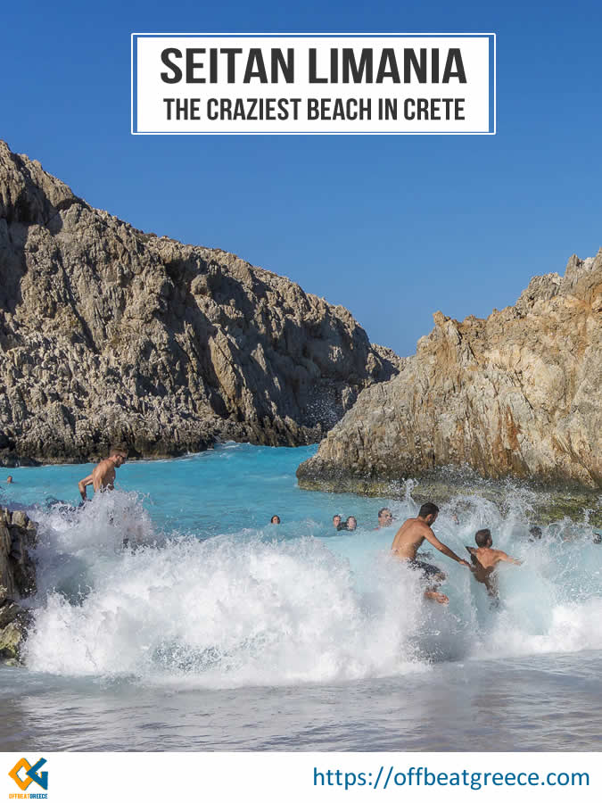 How ro visit Seitan Limania beach in Chania, northern Crete and what to bring with you to this wild and secluded beach.