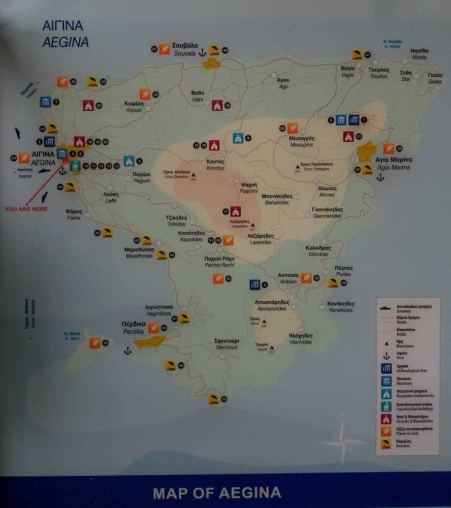 aegina map