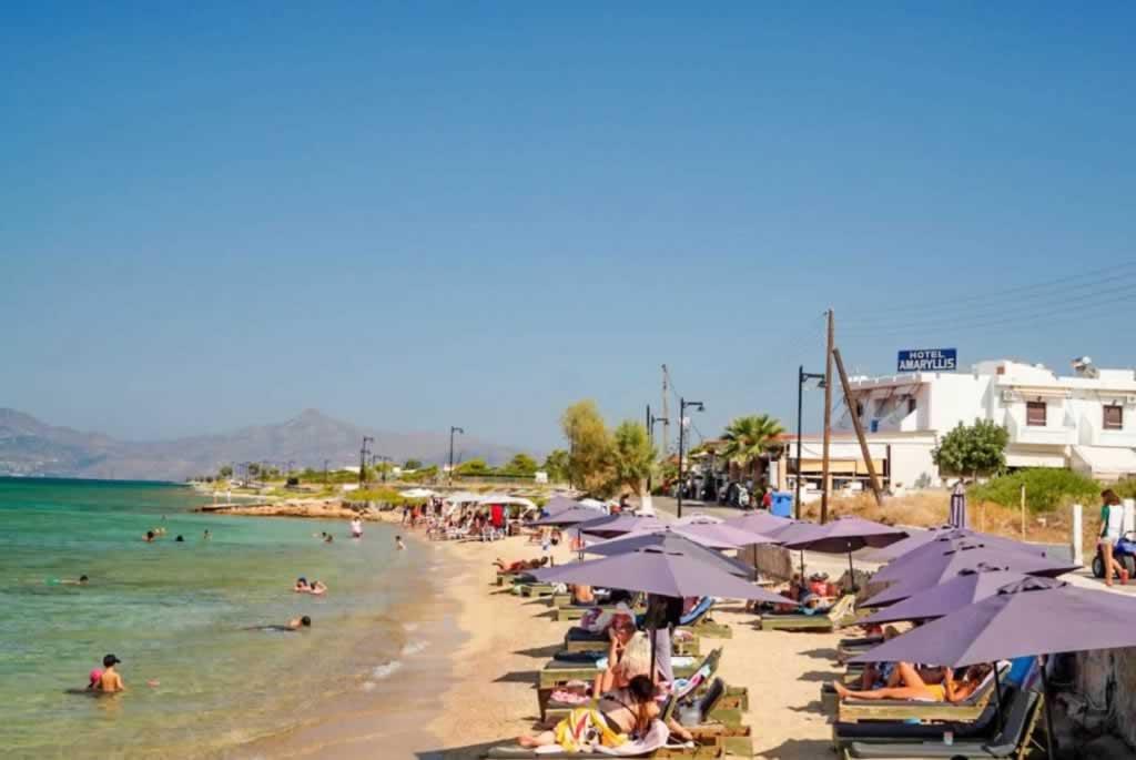 agistri amaryllis hotel beach-sunbeds