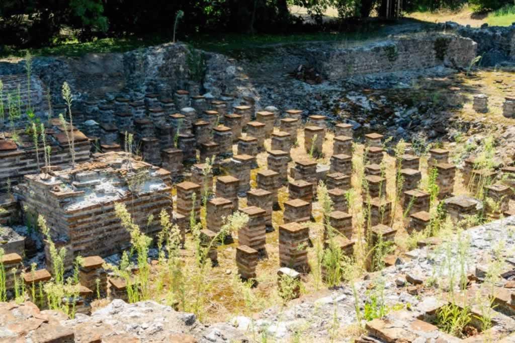 Dion archeological park hypocaust