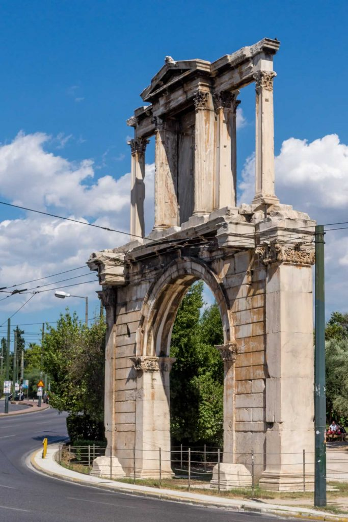 The Arch of Hadrian in Athens