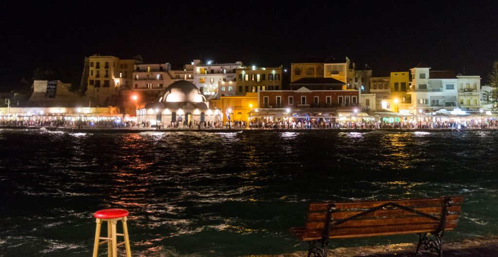 Chania Venetian Harbour by Night