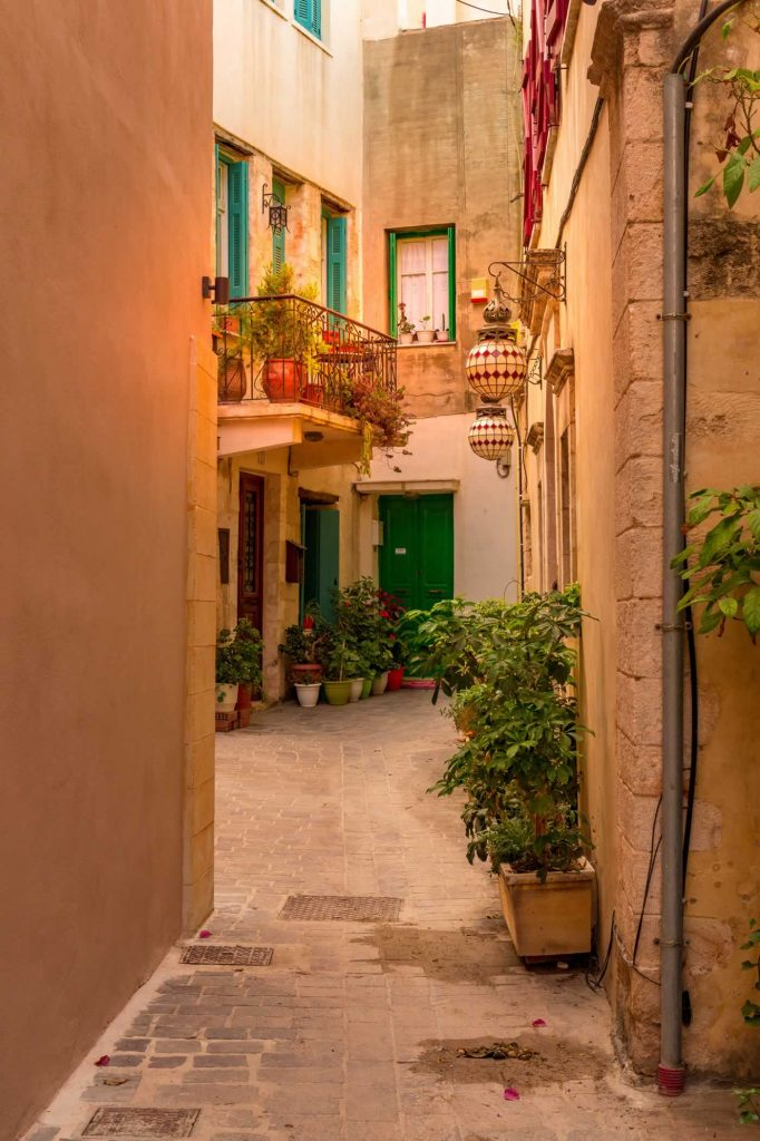 chania old town streets