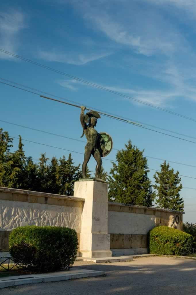 thermopylae king leonidas bronze