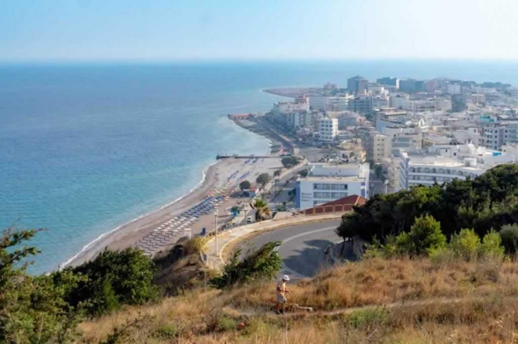 acropolis rhodes town beaches panorama