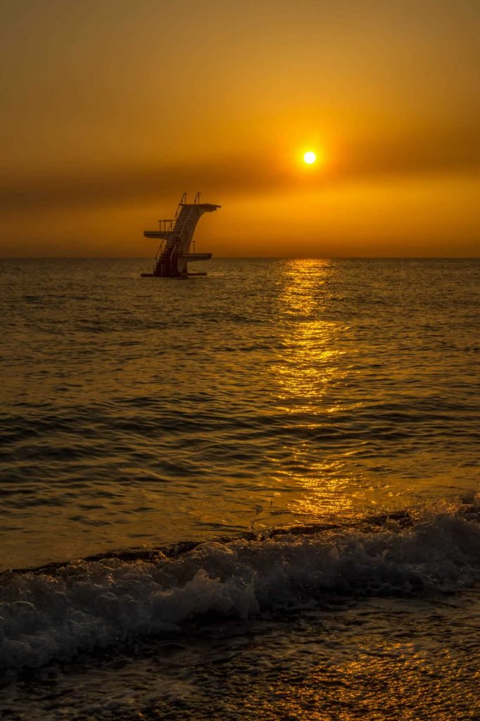 elli beach platform sunrise