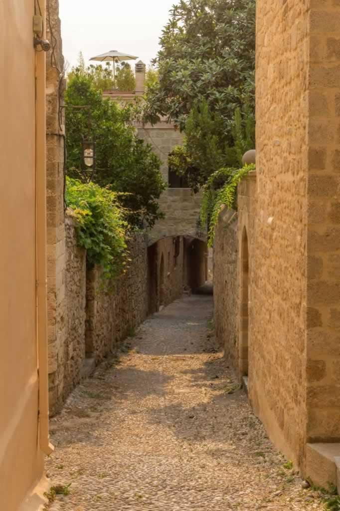 Narrow street in Rhodes Medival Citadel