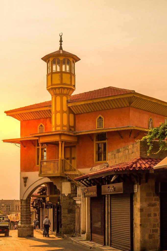 The Mosque of Aga in Rhodes Old Town