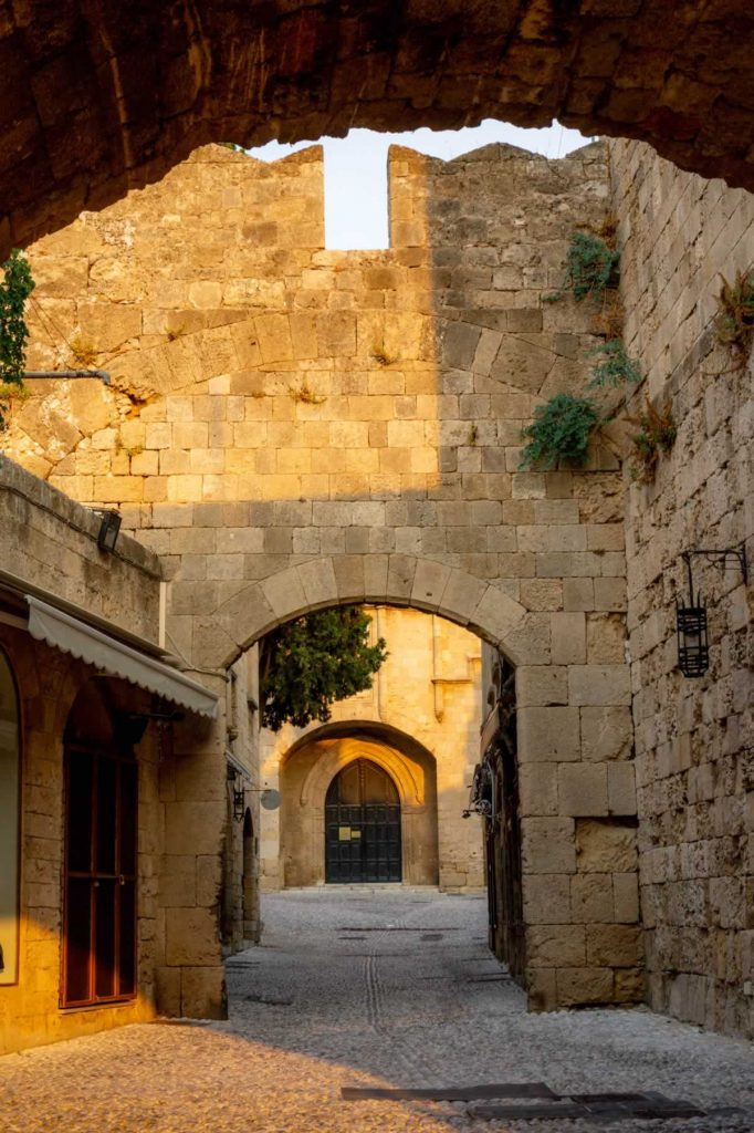rhodes old town archways