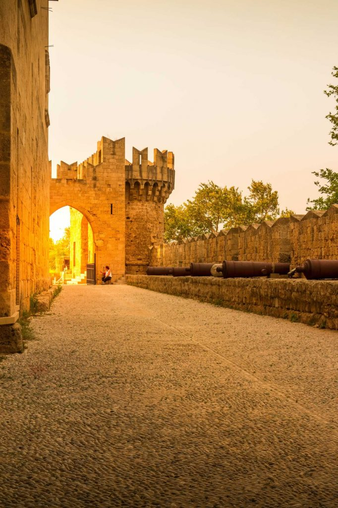 Canons Alley in Rhodes Palace of the Grand Master