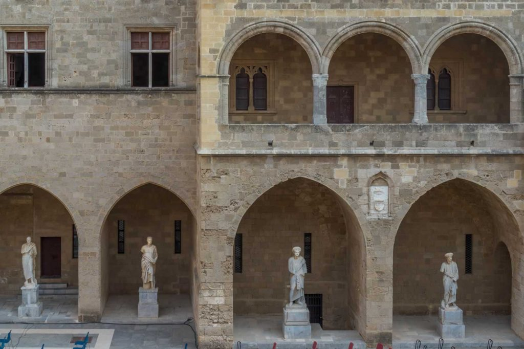 rhodes palace statues
